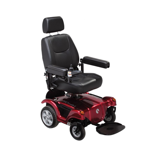 Rascal P312 Turnabout Power Chair Manual Post Red